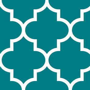 quatrefoil XL dark teal
