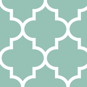 quatrefoil XL faded teal