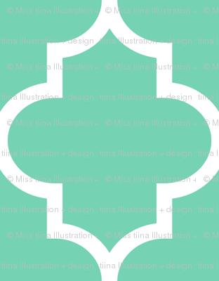 quatrefoil XL seafoam green