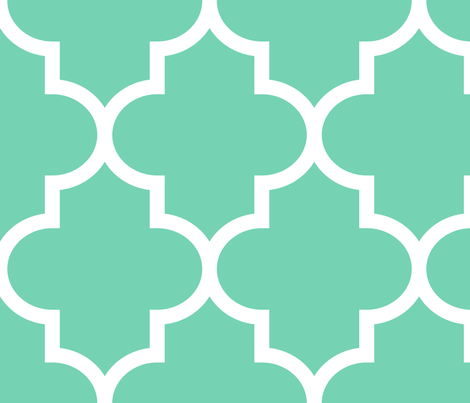 quatrefoil XL seafoam green fabric by misstiina on Spoonflower - custom fabric