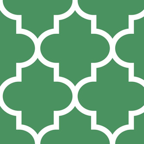 quatrefoil XL kelly green