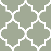 quatrefoil XL sage green