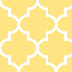quatrefoil XL sunshine yellow