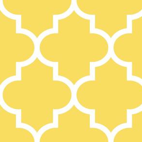 quatrefoil XL butter yellow