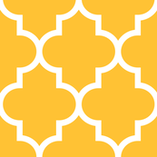 quatrefoil XL golden honey
