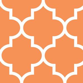 quatrefoil XL tangerine