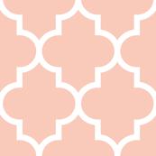quatrefoil XL blush