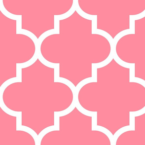 quatrefoil XL pretty pink