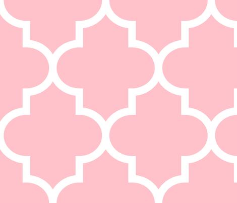 quatrefoil XL light pink fabric by misstiina on Spoonflower - custom fabric