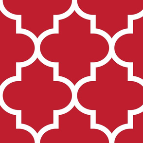 quatrefoil XL red