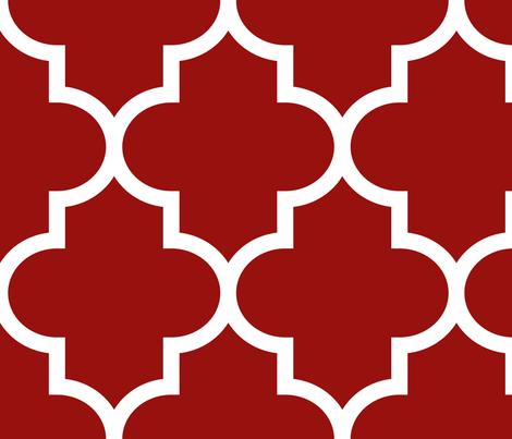quatrefoil XL dark red fabric by misstiina on Spoonflower - custom fabric