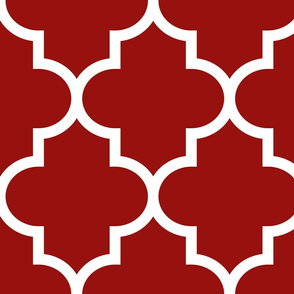 quatrefoil XL dark red