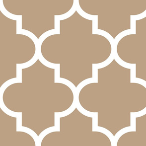 quatrefoil XL tan