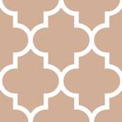 quatrefoil XL toasted nut