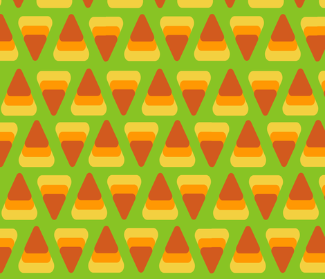 Candy Corn Large fabric by twilfley on Spoonflower - custom fabric