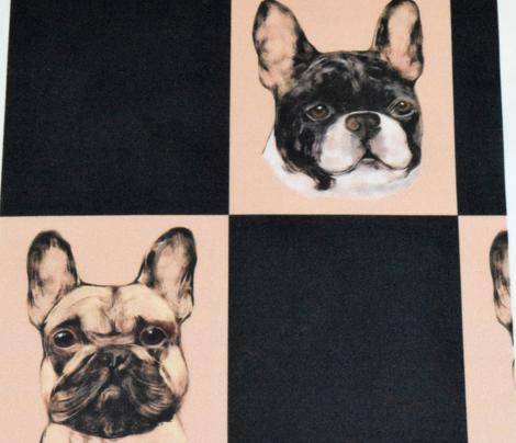 French Bulldog Checkerboard