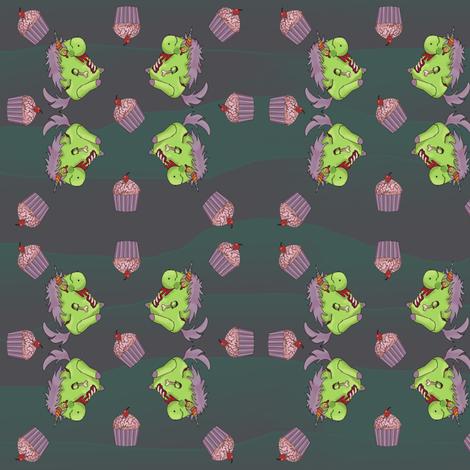 Zombie Unicorn Apocolypse fabric by costumewrangler on Spoonflower - custom fabric