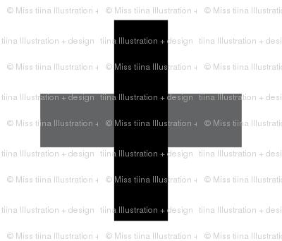cross black mod baby » plush + pillows // fat quarter