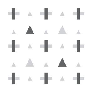 geo plus grey mod baby » plush + pillows // fat quarter
