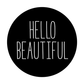 hello beautiful black mod baby » plush + pillows // fat quarter