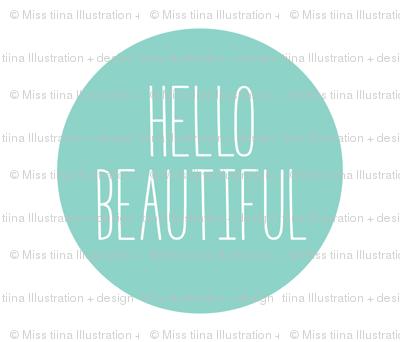 hello beautiful mint mod baby » plush + pillows // fat quarter