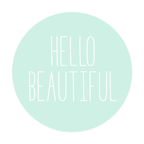 hello beautiful mint light mod baby » plush + pillows // fat quarter