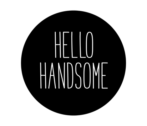 hello handsome black mod baby » plush + pillows // fat quarter fabric by misstiina on Spoonflower - custom fabric