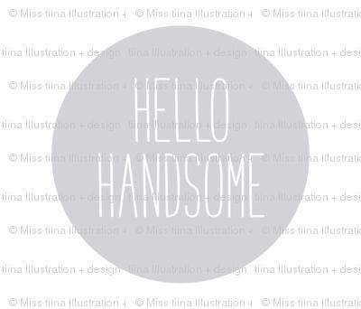 hello handsome grey mod baby » plush + pillows // fat quarter
