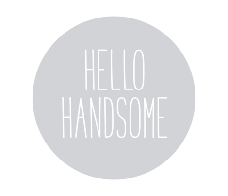 hello handsome grey mod baby » plush + pillows // fat quarter fabric by misstiina on Spoonflower - custom fabric