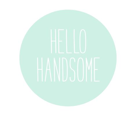 hello handsome mint light mod baby » plush + pillows // fat quarter fabric by misstiina on Spoonflower - custom fabric