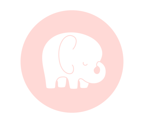 sleepy elephant coral light mod baby » plush + pillows // fat quarter fabric by misstiina on Spoonflower - custom fabric