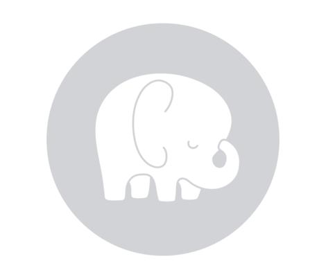 sleepy elephant grey mod baby » plush + pillows // fat quarter fabric by misstiina on Spoonflower - custom fabric