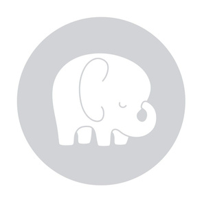 sleepy elephant grey mod baby » plush + pillows // fat quarter