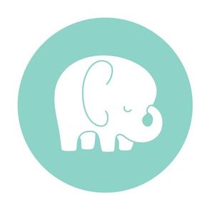 sleepy elephant mint mod baby » plush + pillows // fat quarter