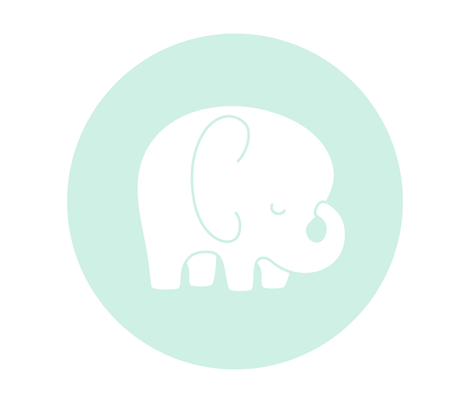 sleepy elephant mint light mod baby » plush + pillows // fat quarter fabric by misstiina on Spoonflower - custom fabric