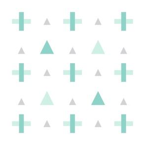 geo plus mint mod baby » plush + pillows // fat quarter