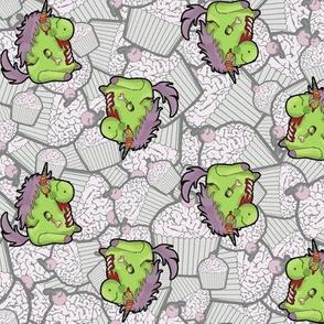 Zombie Unicorn Apocolypse Cupcake Brains