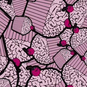 Pink Brain Cupcakes