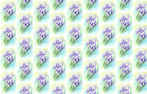 Iris_Flags fabric by wildflowerfabrics on Spoonflower - custom fabric