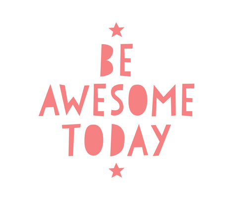 be awesome today coral mod baby » plush + pillows // fat quarter fabric by misstiina on Spoonflower - custom fabric