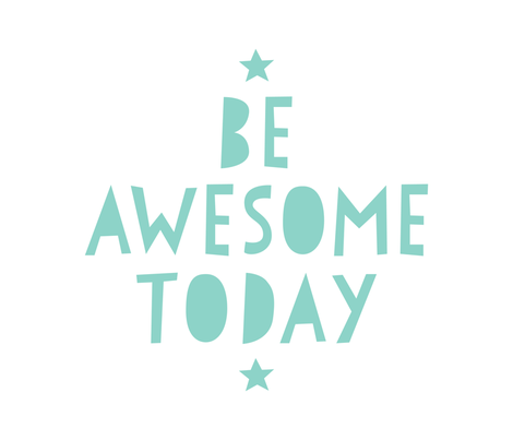 be awesome today mint mod baby » plush + pillows // fat quarter fabric by misstiina on Spoonflower - custom fabric