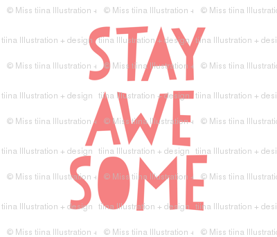 stay awesome coral mod baby » plush + pillows // fat quarter