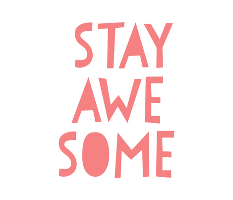 stay awesome coral mod baby » plush + pillows // fat quarter fabric by misstiina on Spoonflower - custom fabric