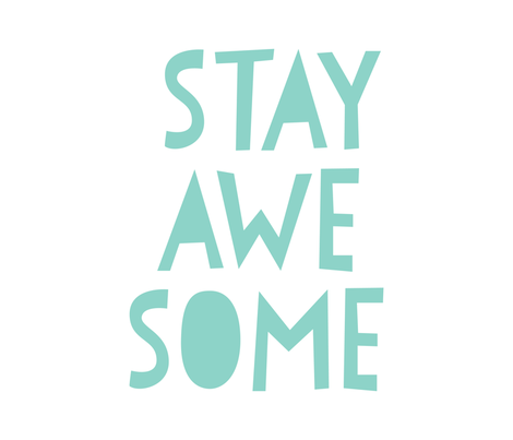 stay awesome mint mod baby » plush + pillows // fat quarter fabric by misstiina on Spoonflower - custom fabric