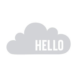 hello cloud grey mod baby » plush + pillows // fat quarter