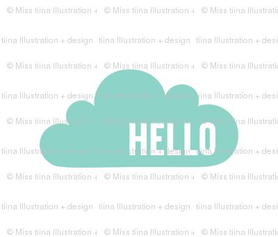 hello cloud mint mod baby » plush + pillows // fat quarter