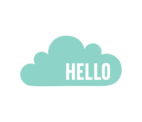 hello cloud mint mod baby » plush + pillows // fat quarter fabric by misstiina on Spoonflower - custom fabric