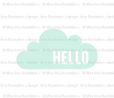 hello cloud mint light mod baby » plush + pillows // fat quarter