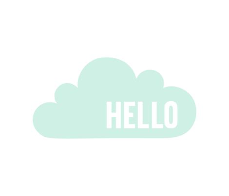 hello cloud mint light mod baby » plush + pillows // fat quarter fabric by misstiina on Spoonflower - custom fabric