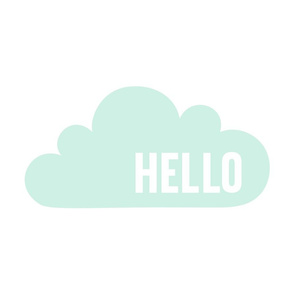 hello cloud mint light mod baby » plush + pillows // fat quarter
